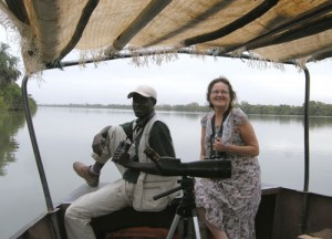 Bird watching on the River Gambia