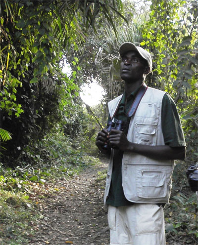 Osman Joku Leading a Bird Guiding Expedition in the Gambia
