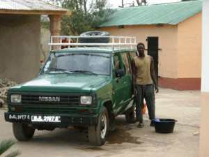 Ousman's Pick Up for Bird Guiding Transport in Gambia